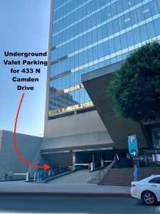 Underground Valet Parking for 433 N Camden Drive | Beverly Hills, CA